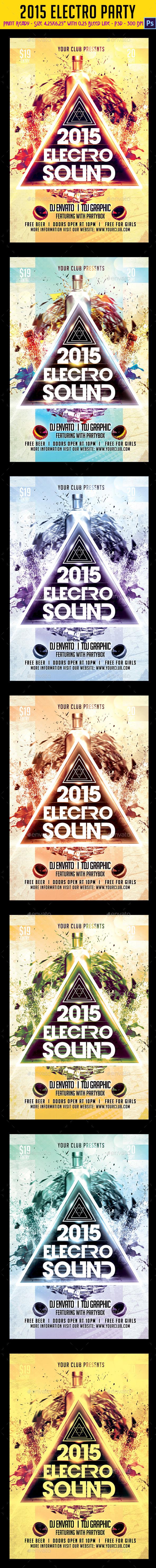 GraphicRiver 2015 Electro Party Flyer 9631005