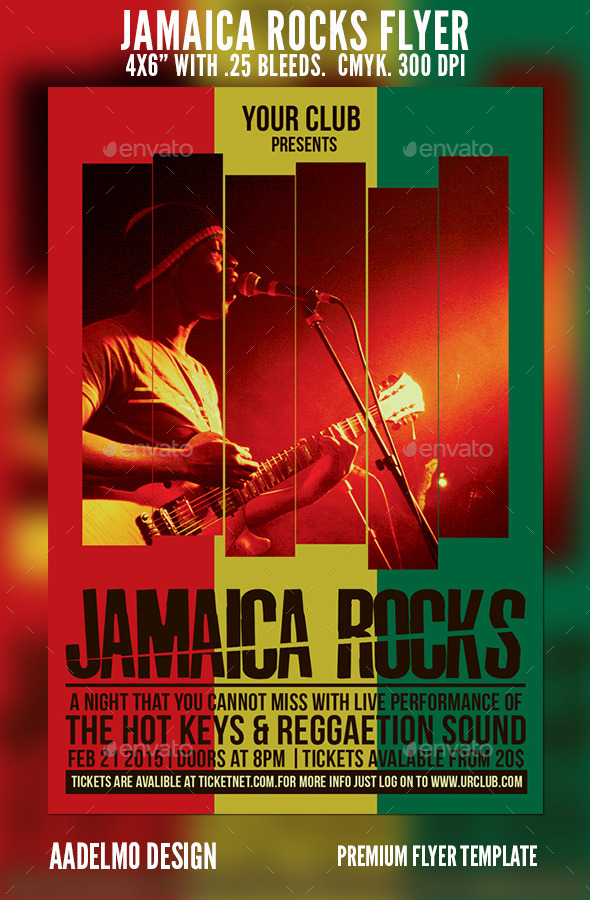 GraphicRiver Jamaica Rocks Flyer 9582326