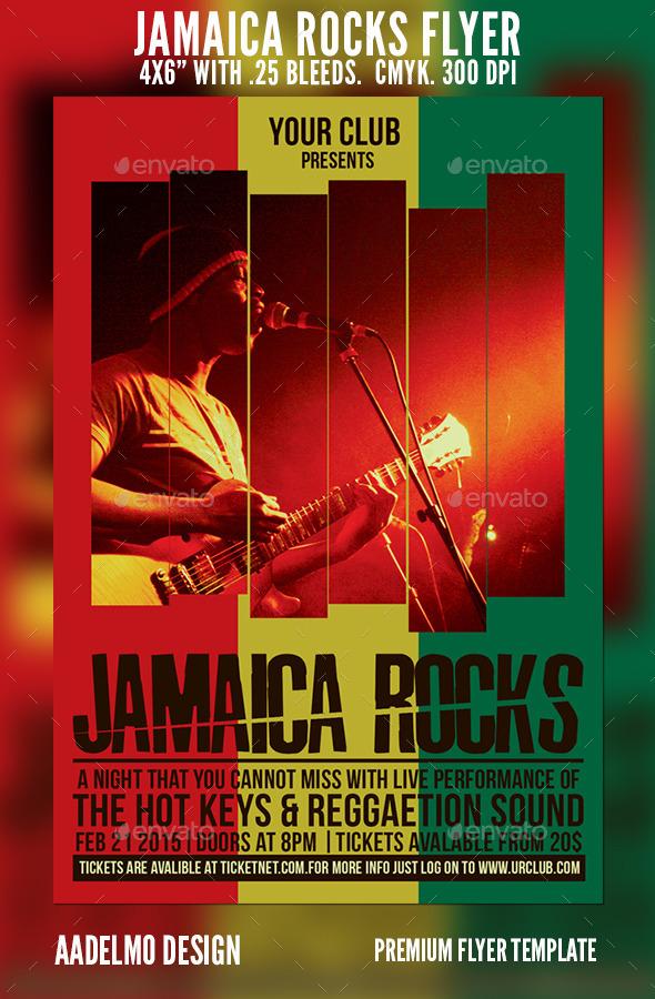 GraphicRiver Jamaica Rocks Flyer 9582326