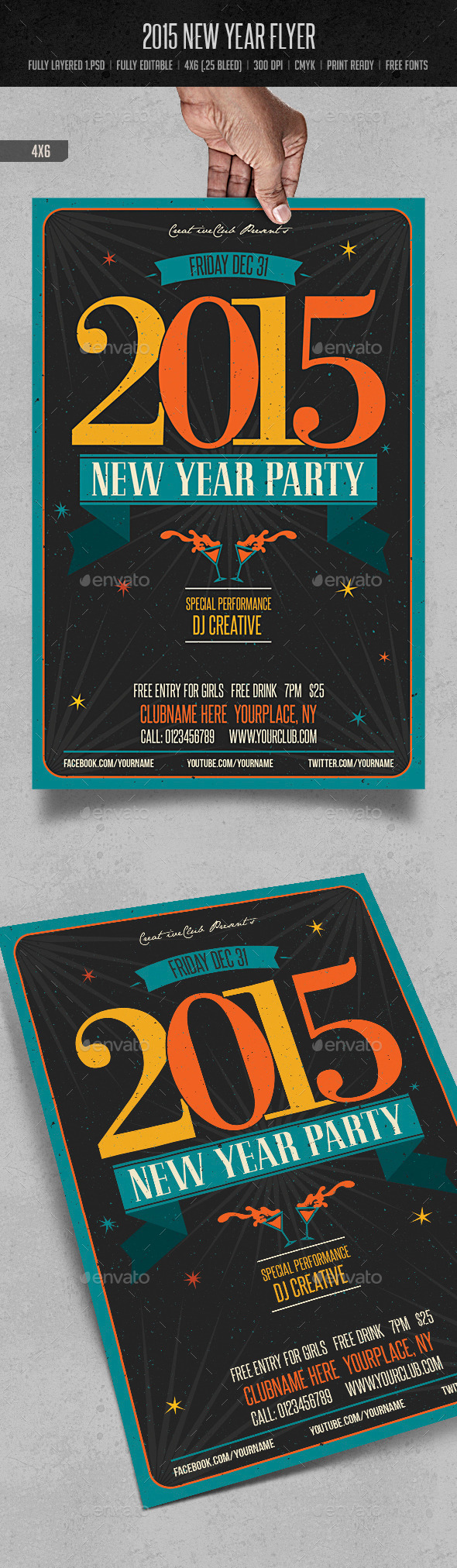 GraphicRiver 2015 New Year Flyer 9631089
