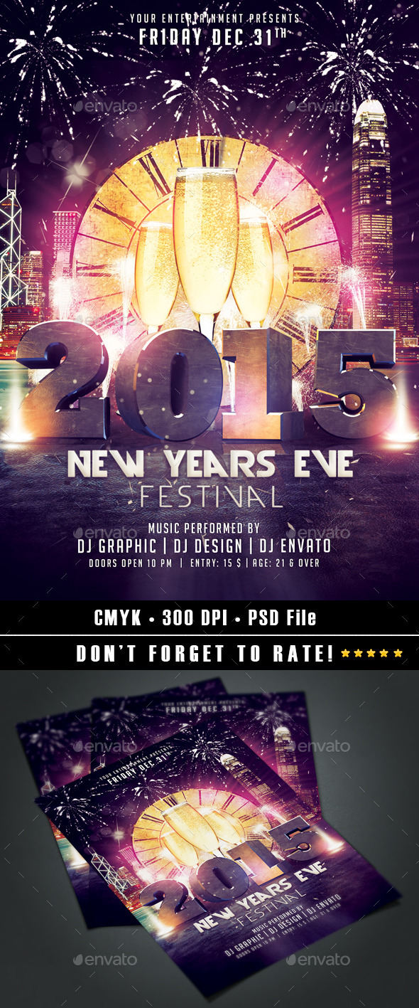 GraphicRiver New Year Flyer 9573387