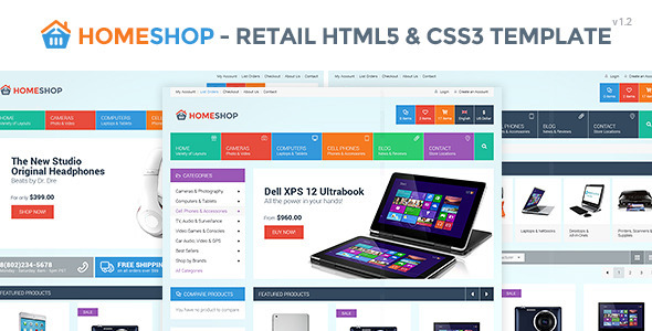 Home Shop - Retail HTML5 & CSS3 Template - Retail Site Templates