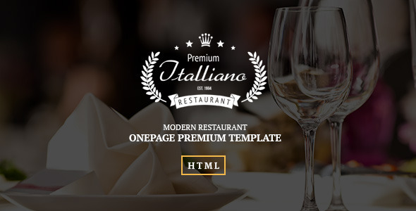 ThemeForest Italliano Clean Premium Restaurant Template 9558070