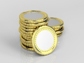 Coins on shiny gray background - PhotoDune Item for Sale