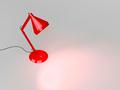 Red desk lamp illuminates the gray background - PhotoDune Item for Sale