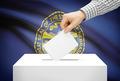 Voting concept - Ballot box with national flag on background - Nebraska - PhotoDune Item for Sale