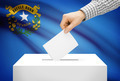 Voting concept - Ballot box with national flag on background - Nevada - PhotoDune Item for Sale