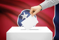 Voting concept - Ballot box with national flag on background - Tennessee - PhotoDune Item for Sale