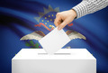 Voting concept - Ballot box with national flag on background - North Dakota - PhotoDune Item for Sale