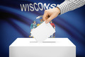 Voting concept - Ballot box with national flag on background - Wisconsin - PhotoDune Item for Sale