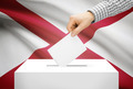 Voting concept - Ballot box with national flag on background - Alabama - PhotoDune Item for Sale