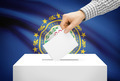 Voting concept - Ballot box with national flag on background - New Hampshire - PhotoDune Item for Sale