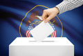 Voting concept - Ballot box with national flag on background - Utah - PhotoDune Item for Sale