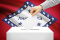 Voting concept - Ballot box with national flag on background - Arkansas - PhotoDune Item for Sale