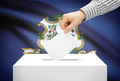 Voting concept - Ballot box with national flag on background - Connecticut - PhotoDune Item for Sale