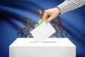 Voting concept - Ballot box with national flag on background - Pennsylvania - PhotoDune Item for Sale