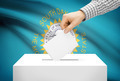 Voting concept - Ballot box with national flag on background - South Dakota - PhotoDune Item for Sale