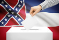 Voting concept - Ballot box with national flag on background - Mississippi - PhotoDune Item for Sale
