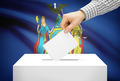 Voting concept - Ballot box with national flag on background - New York - PhotoDune Item for Sale