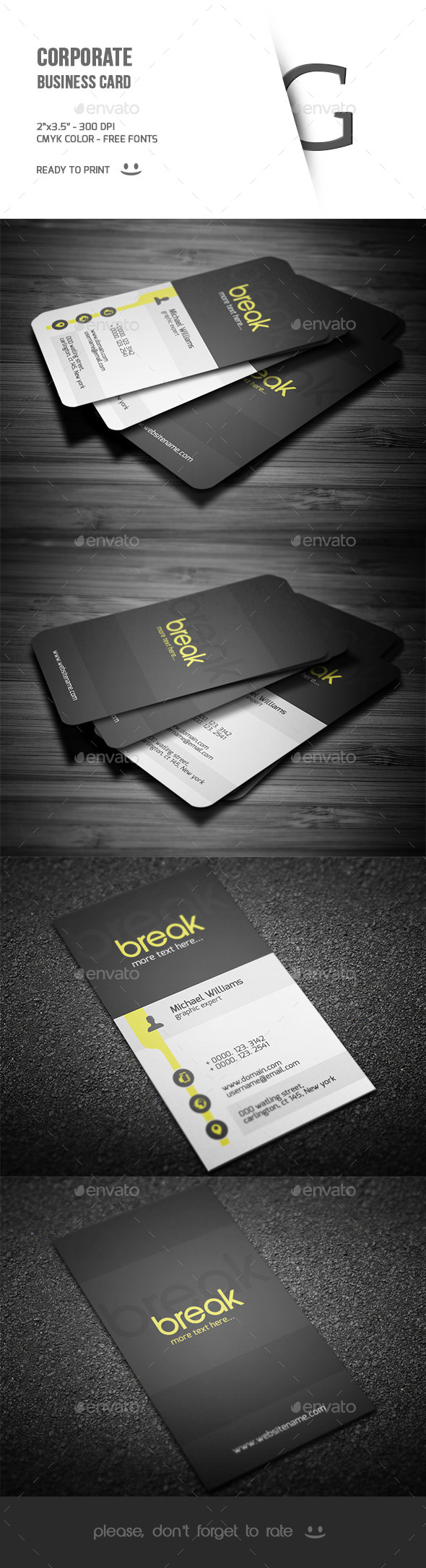 GraphicRiver Corporate Business Card 9593781