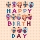Birthday Card with Owls - GraphicRiver Item for Sale