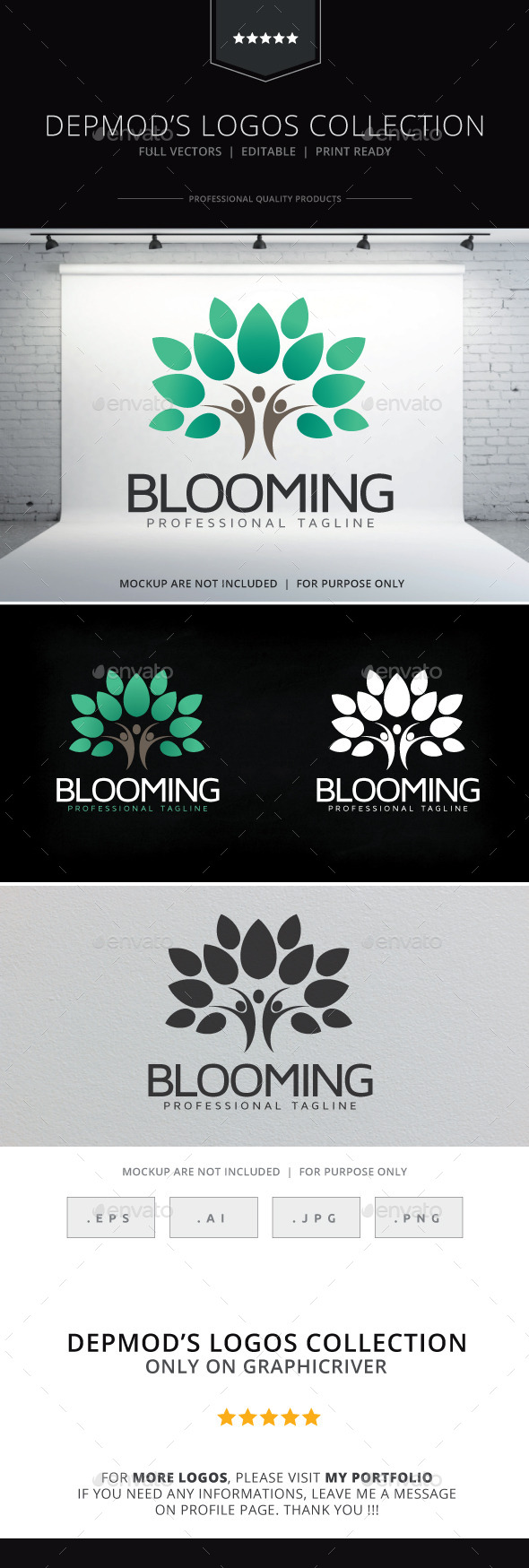 GraphicRiver Blooming Logo 9631636