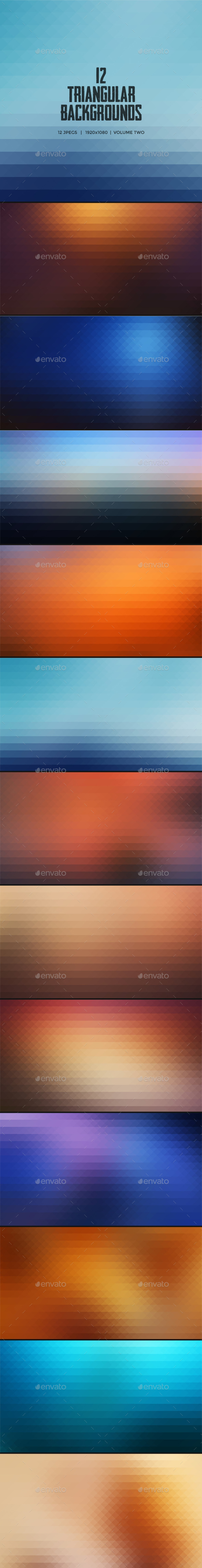 GraphicRiver Triangle Backgrounds Volume Two 9631779