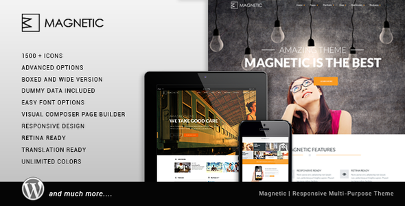 Magnetic - Creative Responsive Multi Purpose Theme