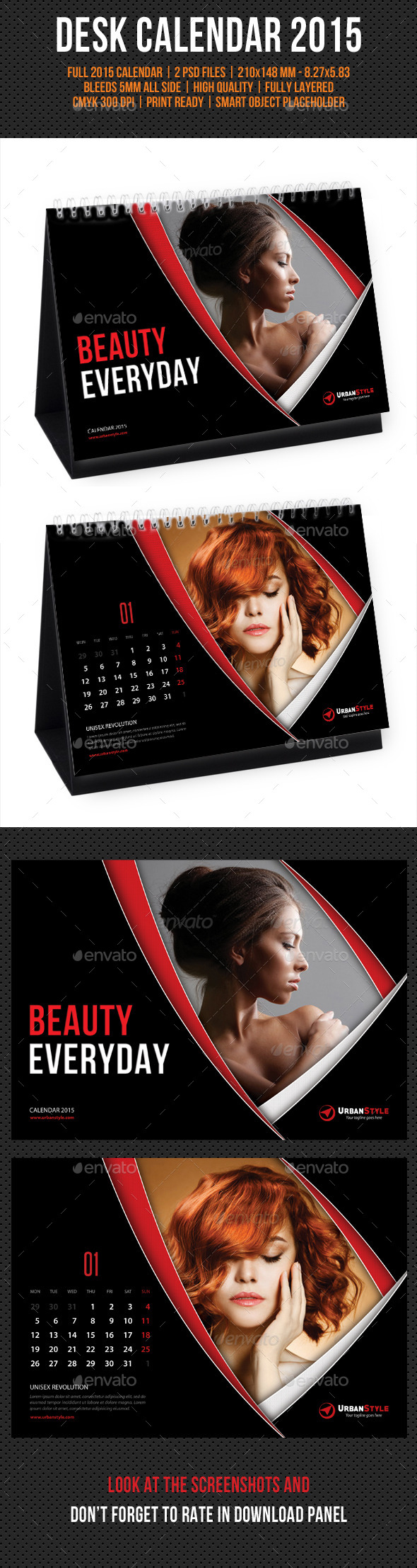 GraphicRiver Creative Desk Calendar 2015 V04 9631876
