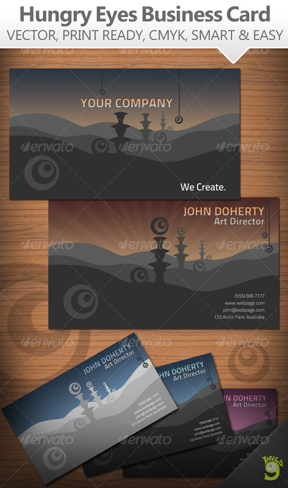 Hungry Eyes Business Card