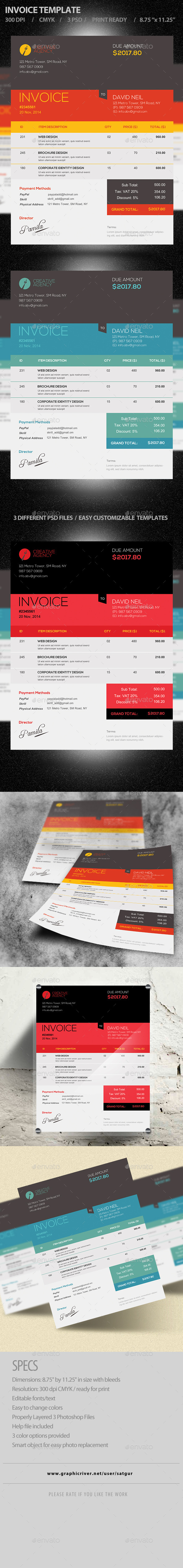 GraphicRiver Invoice Template PSD 9596331