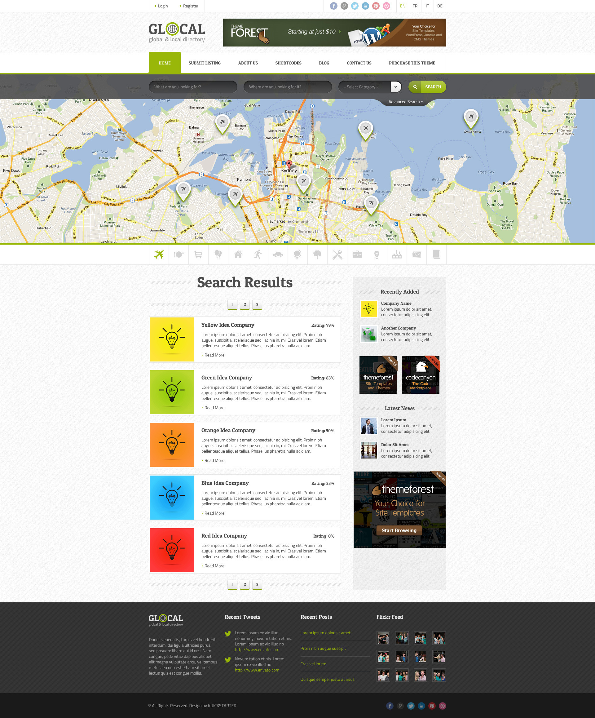 Glocal - Responsive Directory Template by uouapps | ThemeForest