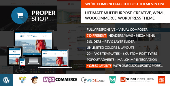 Propershop Ultimate Woocommerce WP Theme