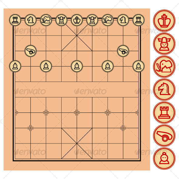 chinese chess xiangqi vector590 Phương cách ôn luyện chuyện đánh cờ tướng đúng cách
