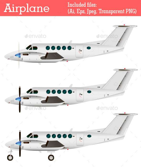 GraphicRiver Airplane 9584036