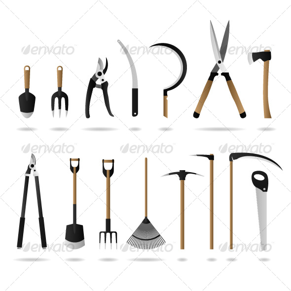 GraphicRiver Gardening Tool Equipment Vector 122730