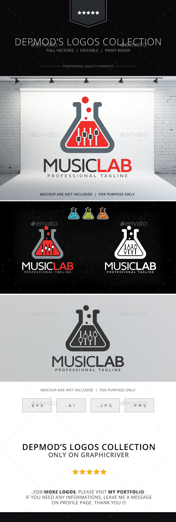 GraphicRiver Music Lab Logo 9633270