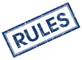 rules blue square stamp isolated on white background - PhotoDune Item for Sale