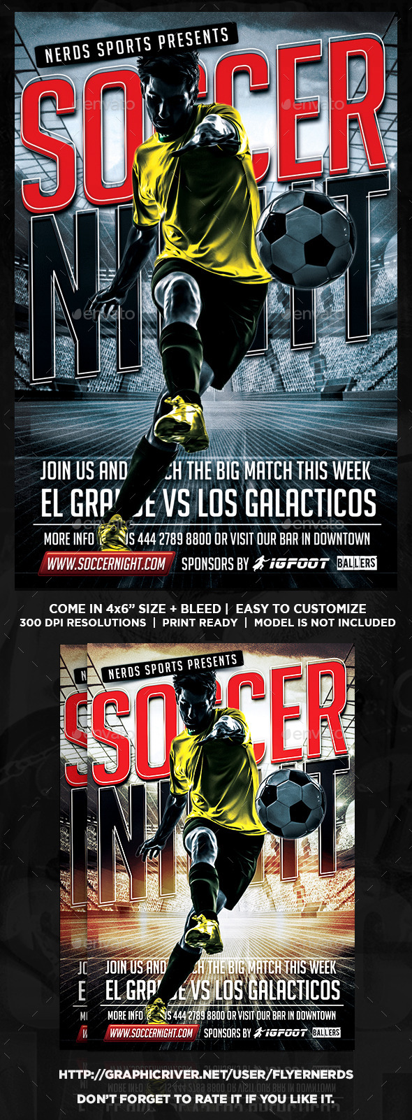 GraphicRiver Soccer Gamer Night Flyer 9633511