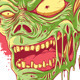 Zombie Head Illustration - GraphicRiver Item for Sale