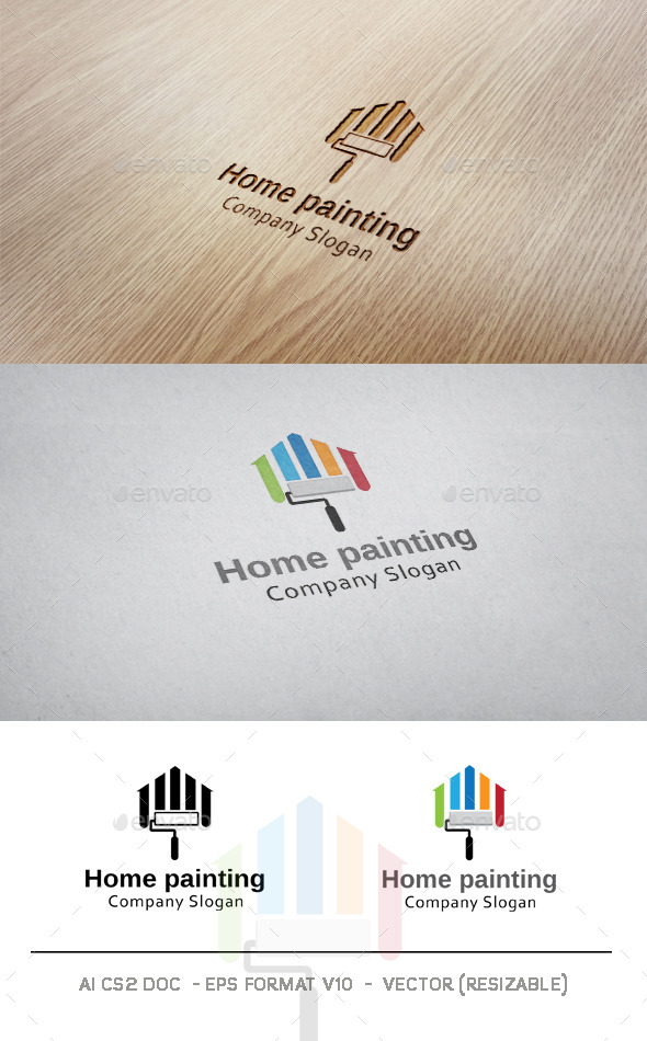 GraphicRiver Home Painting Logo 9633565