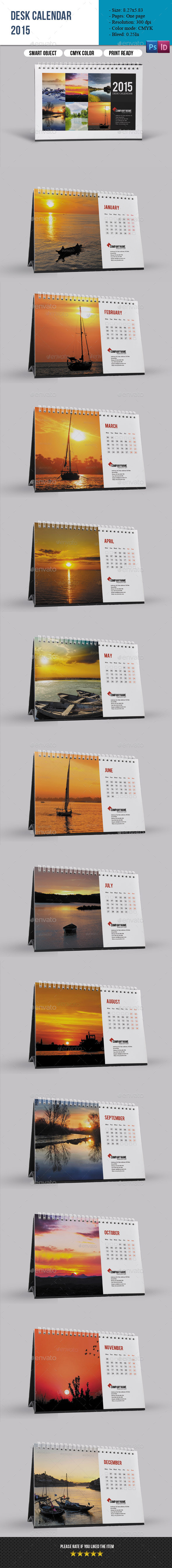 GraphicRiver Desk Calendar 2015 9597070