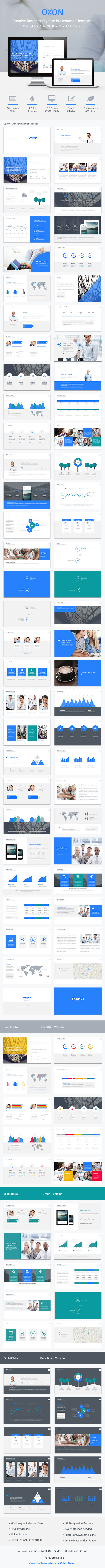GraphicRiver Oxon Keynote Presentation Template 9634660
