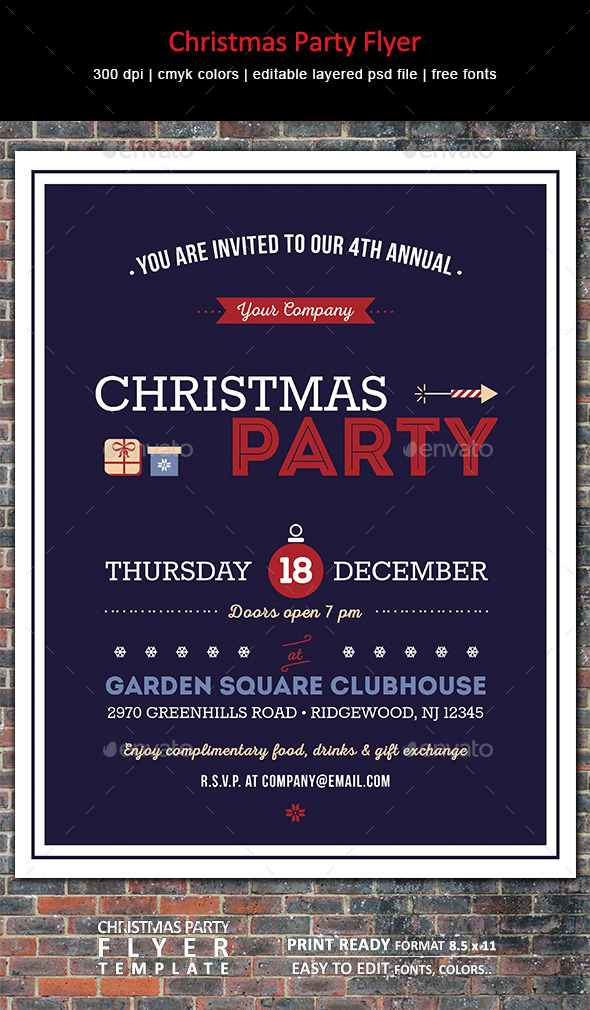 GraphicRiver Christmas Party Flyer 9474127