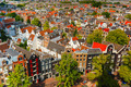 Amsterdam city view from Westerkerk, Holland, Netherlands. - PhotoDune Item for Sale