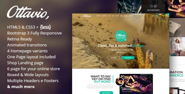 ThemeForest Ottavio Multipurpose HTML5 Bootstrap Template 9562624
