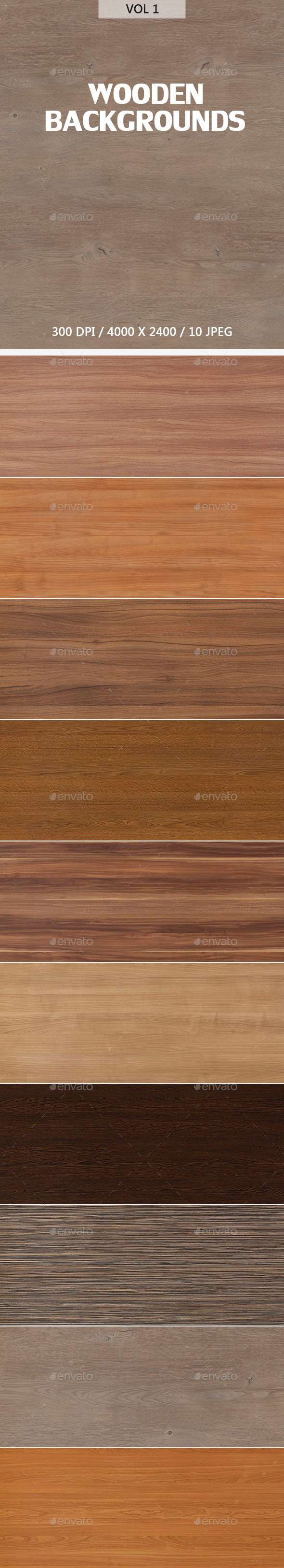 GraphicRiver Wooden Backgrounds 9634824