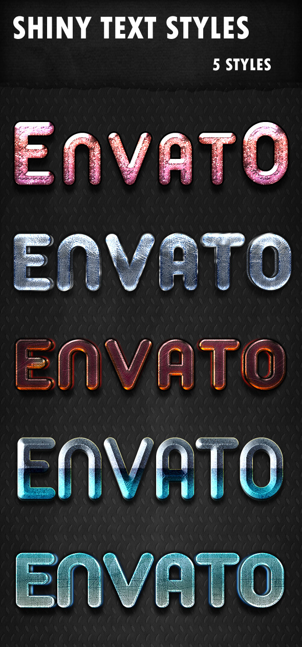GraphicRiver Shiny Text Styles 9635216