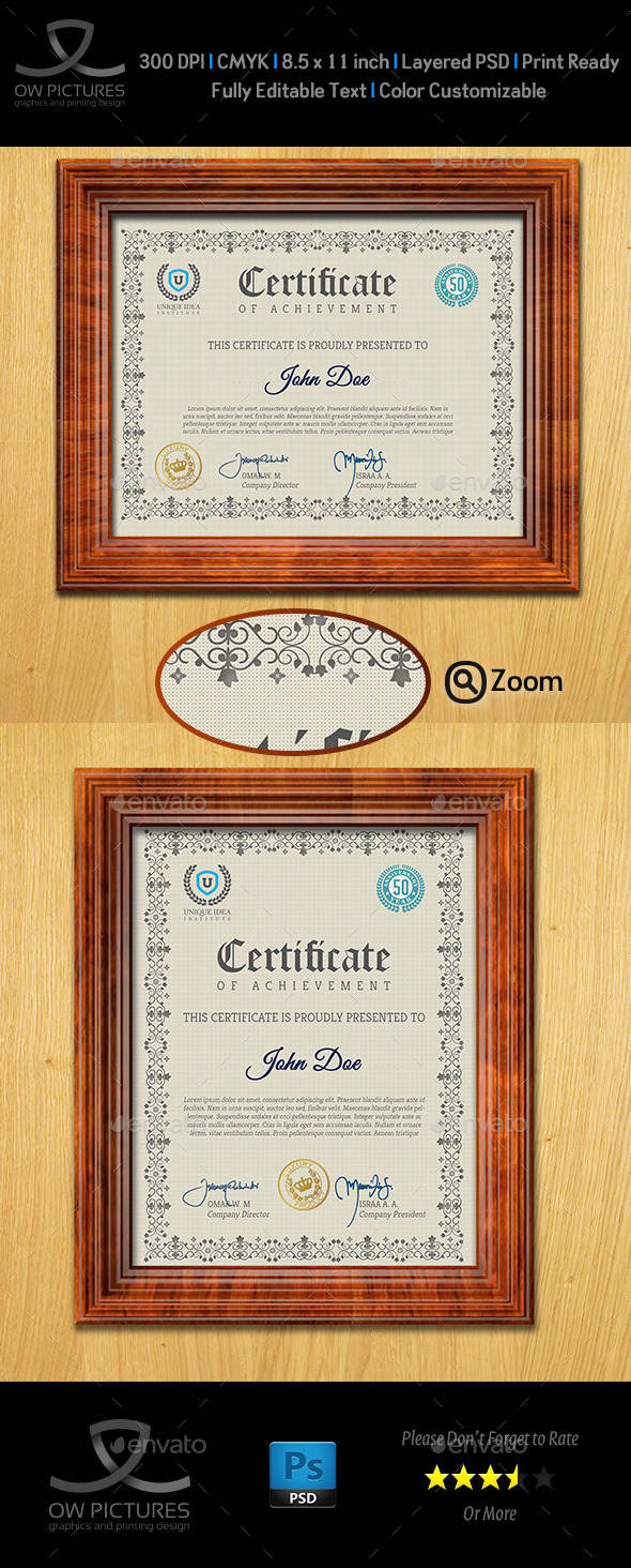 GraphicRiver Multi Purpose Certificates Template Vol.1 9635241