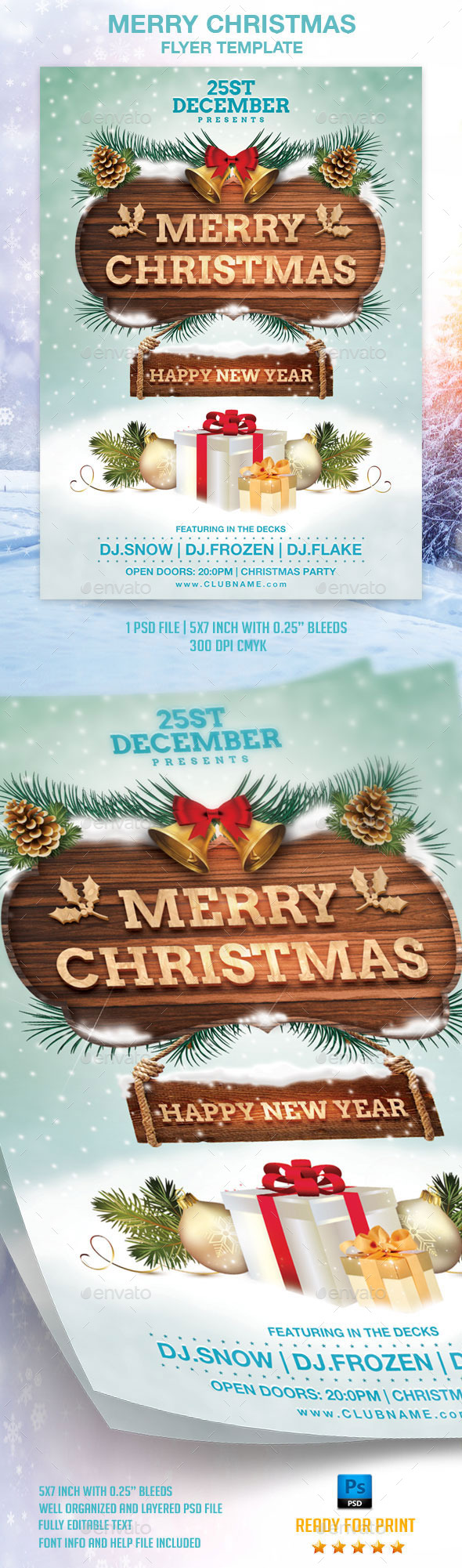 GraphicRiver Merry Christmas Flyer Template 9635254